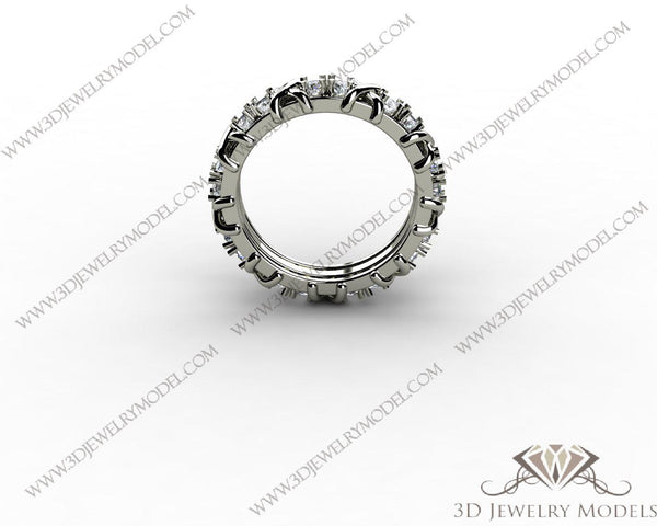 CAD CAM 3D JEWELRY MODELS 3DM STL FILES WAX 3D PRINTING RING ROUND 00443