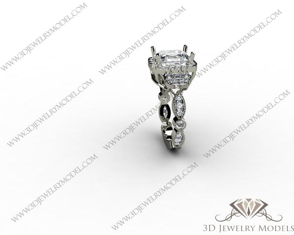 CAD CAM 3D JEWELRY MODELS 3DM STL FILES WAX 3D PRINTING RING ROUND 00326