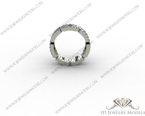 CAD CAM 3D JEWELRY MODELS 3DM STL FILES WAX 3D PRINTING RING 00252