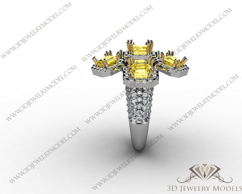 CAD CAM 3D JEWELRY MODELS 3DM STL FILES WAX 3D PRINTING RING 00078
