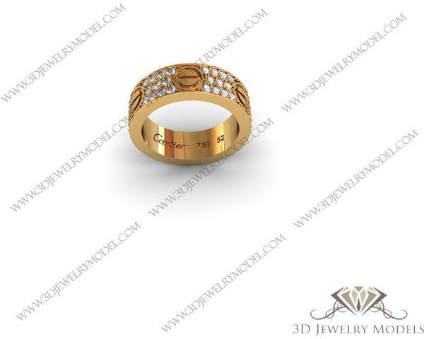 CAD CAM 3D JEWELRY MODELS 3DM STL FILES WAX 3D PRINTING RING SQUARE 00271