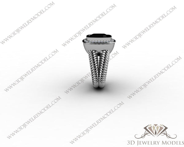 CAD CAM 3D JEWELRY MODELS 3DM STL FILES WAX 3D PRINTING RING PEAR 00469