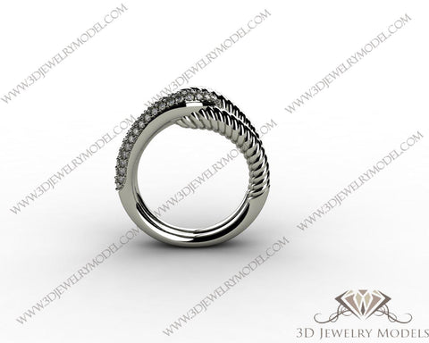 CAD CAM 3D JEWELRY MODELS 3DM STL FILES WAX 3D PRINTING RING 00516