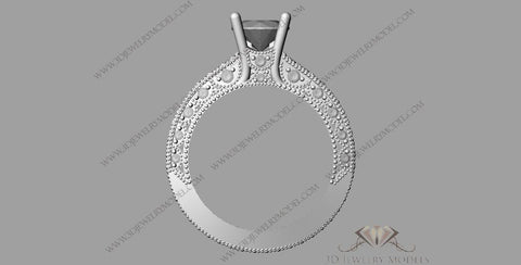 CAD CAM 3D JEWELRY MODELS 3DM STL FILES WAX 3D PRINTING RING SQUARE 00259