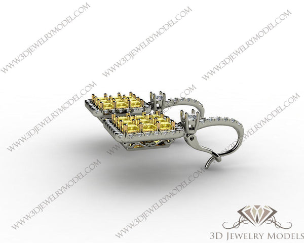 CAD CAM 3D JEWELRY MODELS 3DM STL FILES WAX 3D PRINTING RING CUSHION 00067 - 3D Jewelry Models - 1