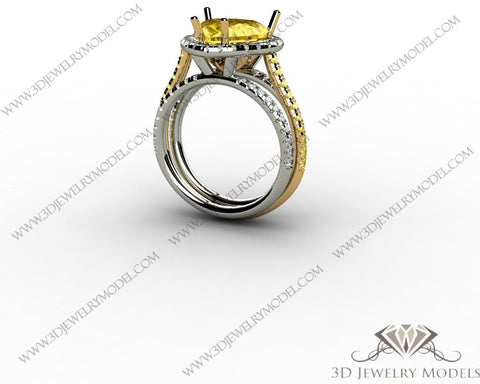 CAD CAM 3D JEWELRY MODELS 3DM STL FILES WAX 3D PRINTING RING 00210