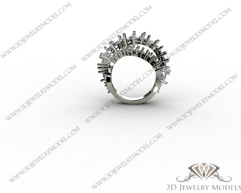 CAD CAM 3D JEWELRY MODELS 3DM STL FILES WAX 3D PRINTING RING MARQUES 00043 - 3D Jewelry Models - 1