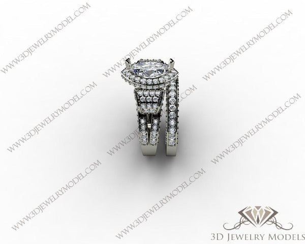 CAD CAM 3D JEWELRY MODELS 3DM STL FILES WAX 3D PRINTING RING MARQUES 00055 - 3D Jewelry Models - 1