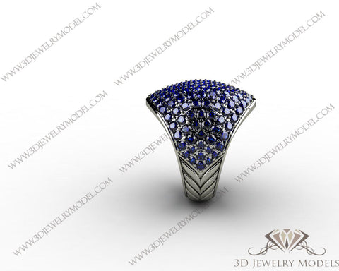 CAD CAM 3D JEWELRY MODELS 3DM STL FILES WAX 3D PRINTING RING OVAL 01539