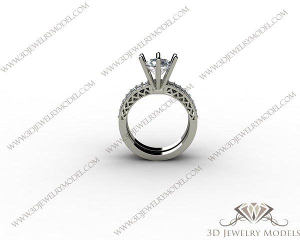 CAD CAM 3D JEWELRY MODELS 3DM STL FILES WAX 3D PRINTING RING ROUND 00182 - 3D Jewelry Models - 1
