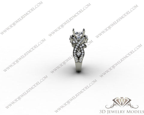 CAD CAM 3D JEWELRY MODELS 3DM STL FILES WAX 3D PRINTING RING ROUND 00275 - 3D Jewelry Models - 1