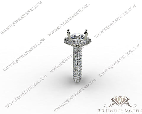 CAD CAM 3D JEWELRY MODELS 3DM STL FILES WAX 3D PRINTING RING ROUND 01466