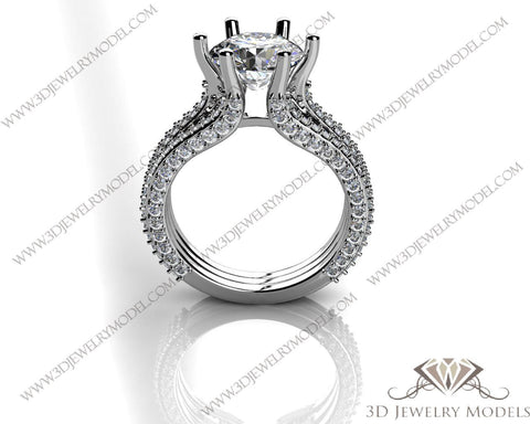 CAD CAM 3D JEWELRY MODELS 3DM STL FILES WAX 3D PRINTING RING ROUND 02698