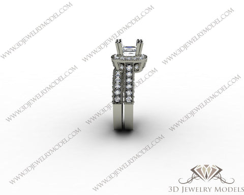 CAD CAM 3D JEWELRY MODELS 3DM STL FILES WAX 3D PRINTING RING SQUARE 00091 - 3D Jewelry Models - 1