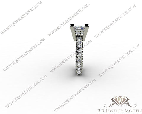 CAD CAM 3D JEWELRY MODELS 3DM STL FILES WAX 3D PRINTING RING SQUARE 00186 - 3D Jewelry Models - 1