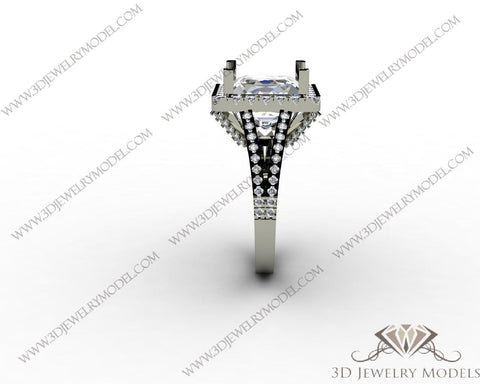 CAD CAM 3D JEWELRY MODELS 3DM STL FILES WAX 3D PRINTING RING SQUARE 00259 - 3D Jewelry Models - 1