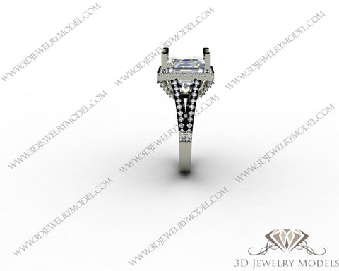 CAD CAM 3D JEWELRY MODELS 3DM STL FILES WAX 3D PRINTING RING SQUARE 00260 - 3D Jewelry Models - 1