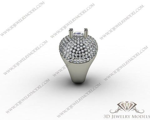 CAD CAM 3D JEWELRY MODELS 3DM STL FILES WAX 3D PRINTING RING SQUARE 00270 - 3D Jewelry Models - 1