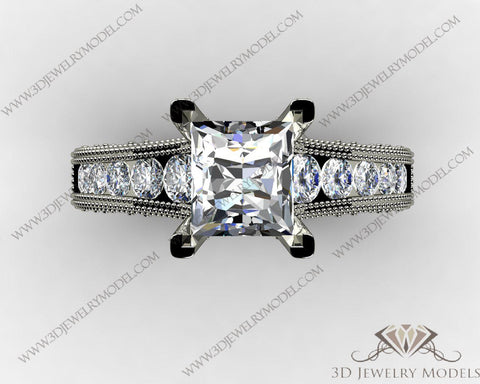 CAD CAM 3D JEWELRY MODELS 3DM STL FILES WAX 3D PRINTING RING SQUARE 00480 - 3D Jewelry Models - 1