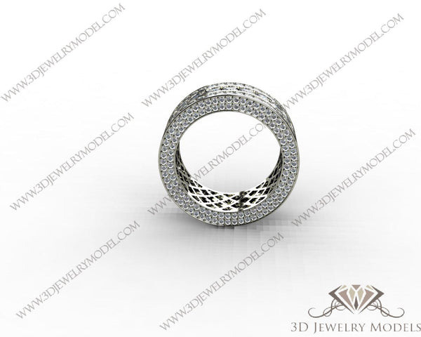 CAD CAM 3D JEWELRY MODELS 3DM STL FILES WAX 3D PRINTING RING MARQUES 00453