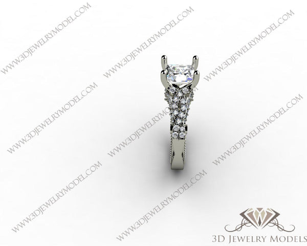 CAD CAM 3D JEWELRY MODELS 3DM STL FILES WAX 3D PRINTING RING SQUARE 01384
