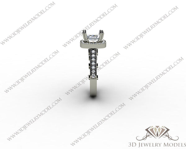 CAD CAM 3D JEWELRY MODELS 3DM STL FILES WAX 3D PRINTING RING SQUARE 00408