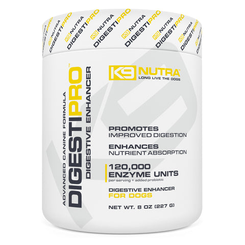 K9 NUTRA™ DIGESTIPRO™ Digestive Enzymes For Dogs canister front view