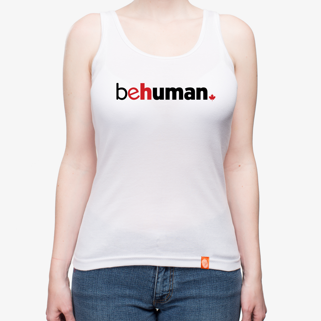 Men's Canada Behuman White Tank Top