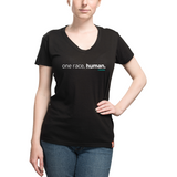 Women's One Race Human Behuman Black T-Shirt
