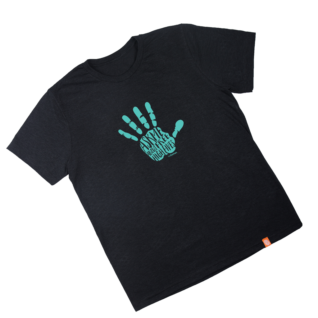 Men's High Fives Behuman Black T-Shirt