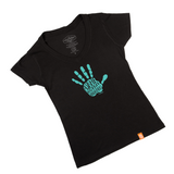 Women's High Fives Behuman Black T-Shirt