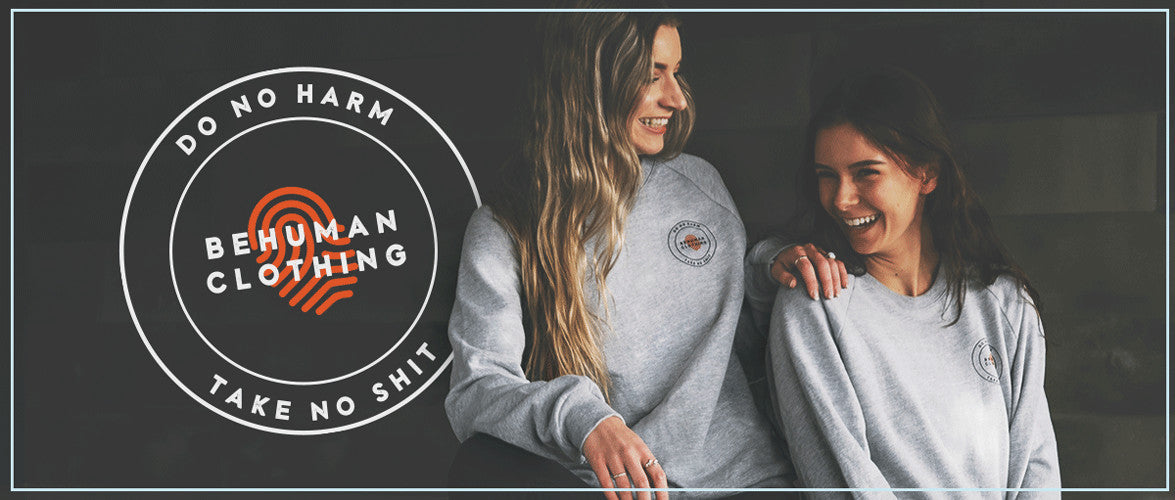 For great stories, original content and FREE SWAG giveaways, check us out on our Instagram page at @behumanclothing.