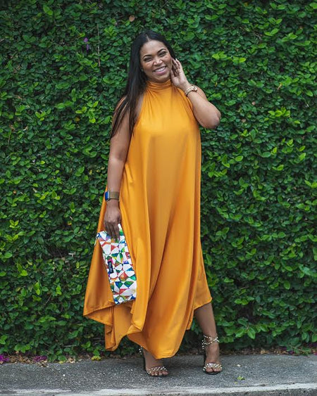 Gold One Sleeve Maxi