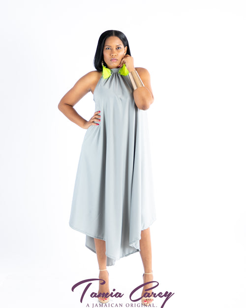 Gray Trapeze Dress