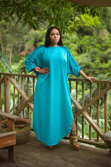 Moana Fuschia and Nude Kaftan