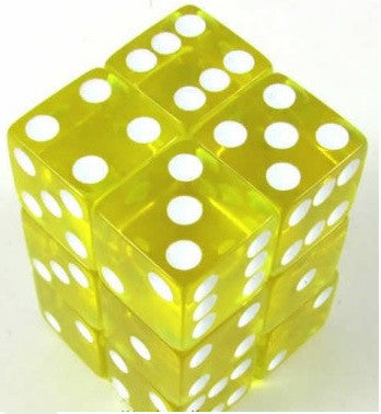 TRANSPARENT 12D6 YELLOW/WHITE 16MM SQUARE CORNERED