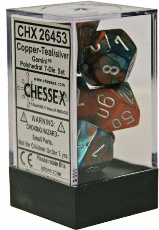 Gemini 7 Dice COPPER-TEAL/SILVER