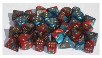 Gemini 7 Dice  DICE RED-TEAL/GOLD