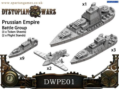 Dystopian wars Prussian Empire Naval Battle Group | Boutique FDB