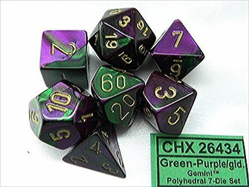 Chessex 7 dice set chx26434 | Boutique FDB