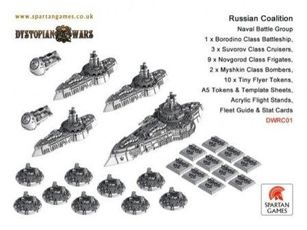 Dystopian wars Russian Coalition Naval Battle Group | Boutique FDB