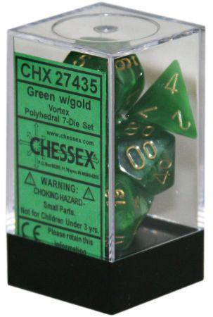 CHX27435 VORTEX 7-DIE SET GREEN/GOLD | Boutique FDB