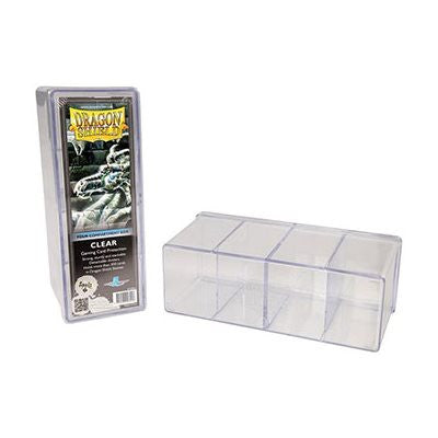 Storage Box: 4 Compartments Clear