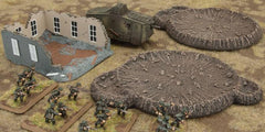 Battlefield in a Box: Large Craters and Runied House | Boutique FDB