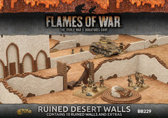 Flames of War Ruined Desert Walls