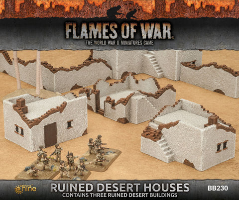 Flames of War Ruined Desert Houses