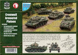 Cromwell Armoured Platoon, 5 tanks (4 Cromwell and 1 Sherman Firefly)