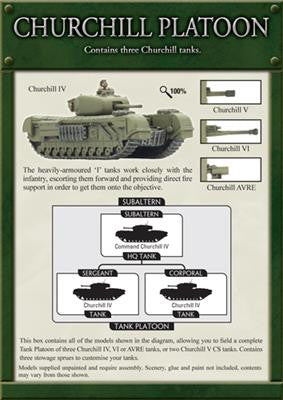 Churchill Platoon, With Churchill IV, V, VI & AVRE options | Boutique FDB
