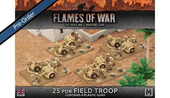 Flames of War 25pdr Field Troop (Plastic) | Boutique FDB