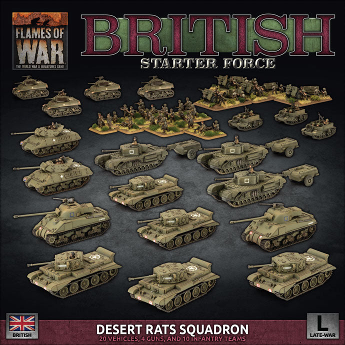 British Starter Force - Desert Rats Squadron | Boutique FDB